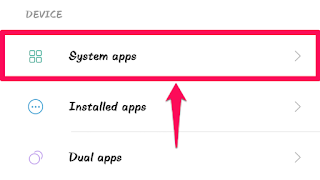 Click on System Apps