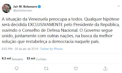 TWITE bOLSONARO
