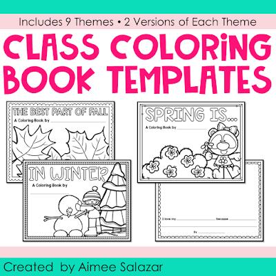 Class Coloring Book Templates