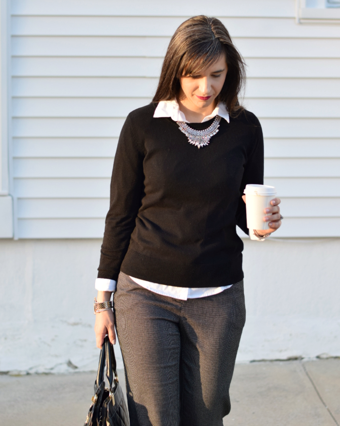 JCPenney Worthington Crewneck Sweater and Modern Fit Pants