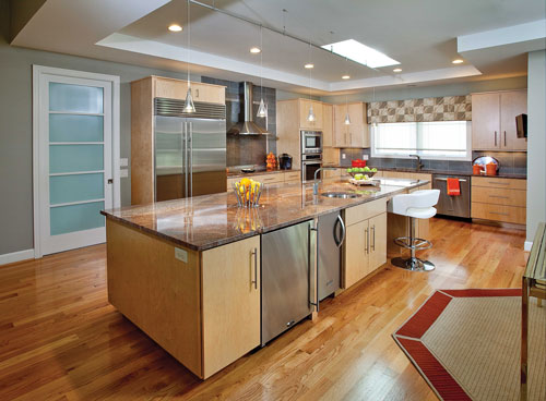 C b i d home decor and design rebirth for Kitchen color ideas with light brown cabinets