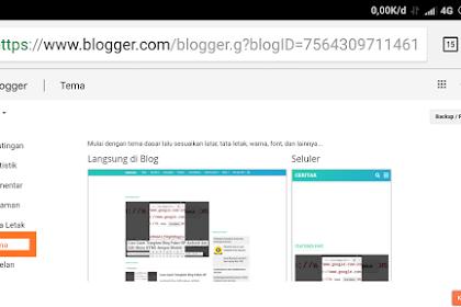 Cara Ganti Template Blog Mudah, semudah copy paste dan minim lag saat edit menu