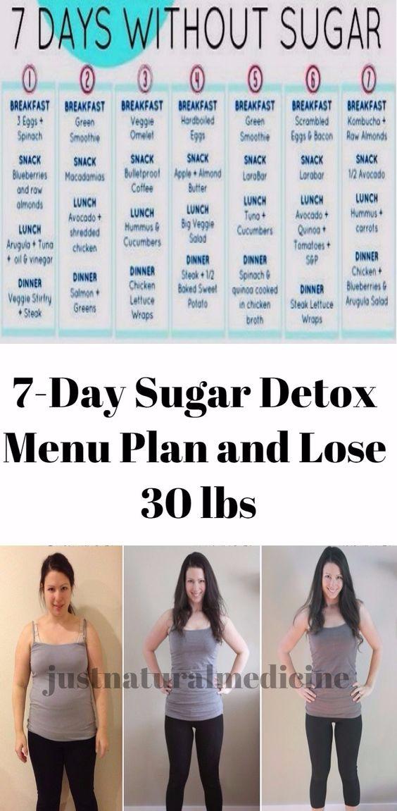7-Day Sugar Detox Menu Plan and Lose 30 lbs