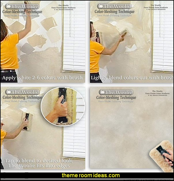 Faux Finishing Painting Instruction  woolie, how to paint a wall, faux finish, color-meshing, Home depot paint, Sherwin-Williams paint, Behr paint, Ralph Lauren paint, paint colors, paint ideas, paint samples, how to, steps, instructions, paint techniques, wall techniques, faux finishing, home decor, painting supplies, paint rollers