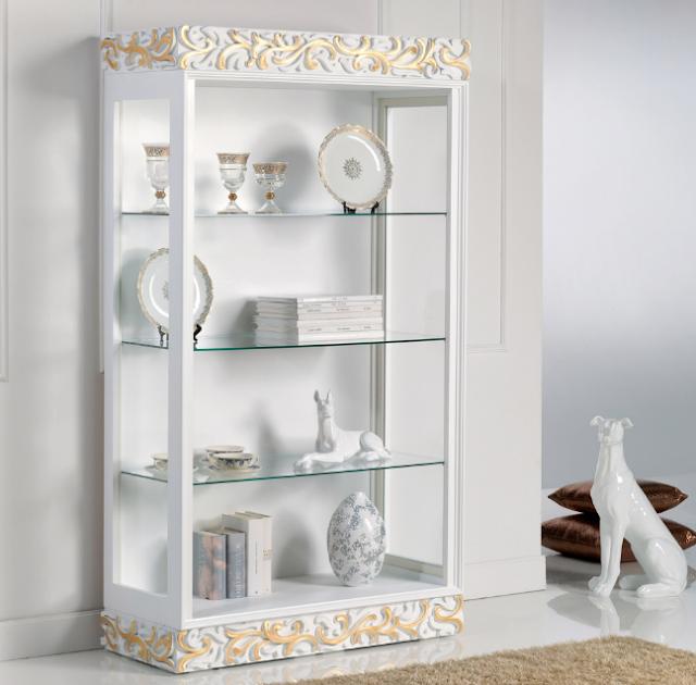 17 Desain lemari hias untuk pajangan di ruang tamu paling mewah dari bahan kayu