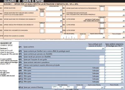 dove inserire le assicurazioni vita e infortuni nella dichiarazione dei redditi modello 730 e nel modello redditi