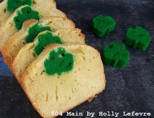 Shamrock Surprise Pound Cake