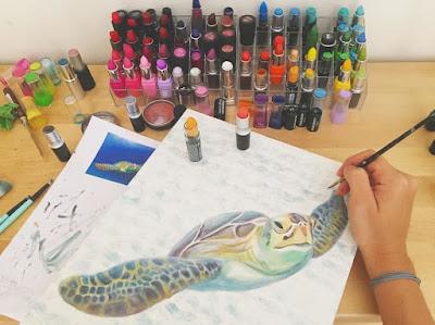 Pintura de una tortuga