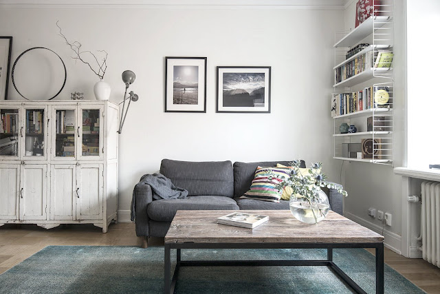 Cool and cozy scandinavian apartment