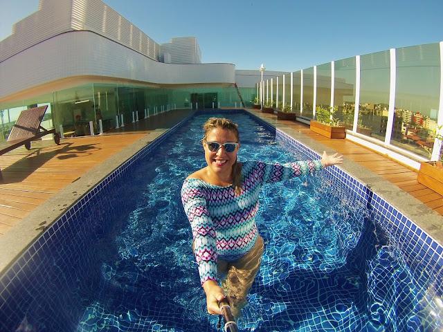 Di maravilhada com o Rooftop do BW Plus Oásis Cabo Frio