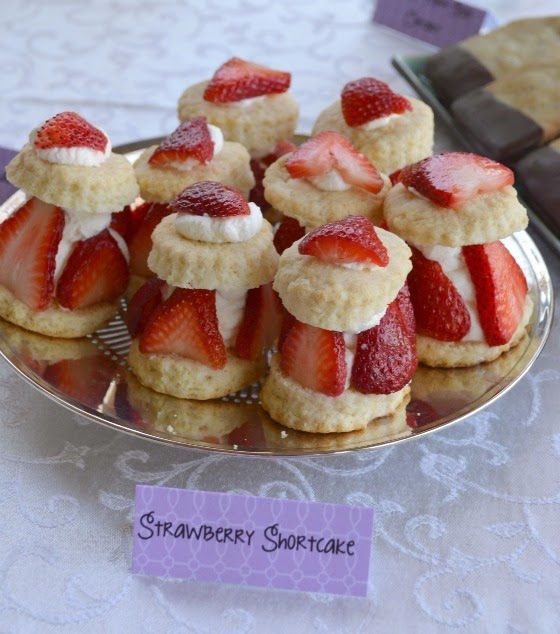 mother's day tea party shortcake