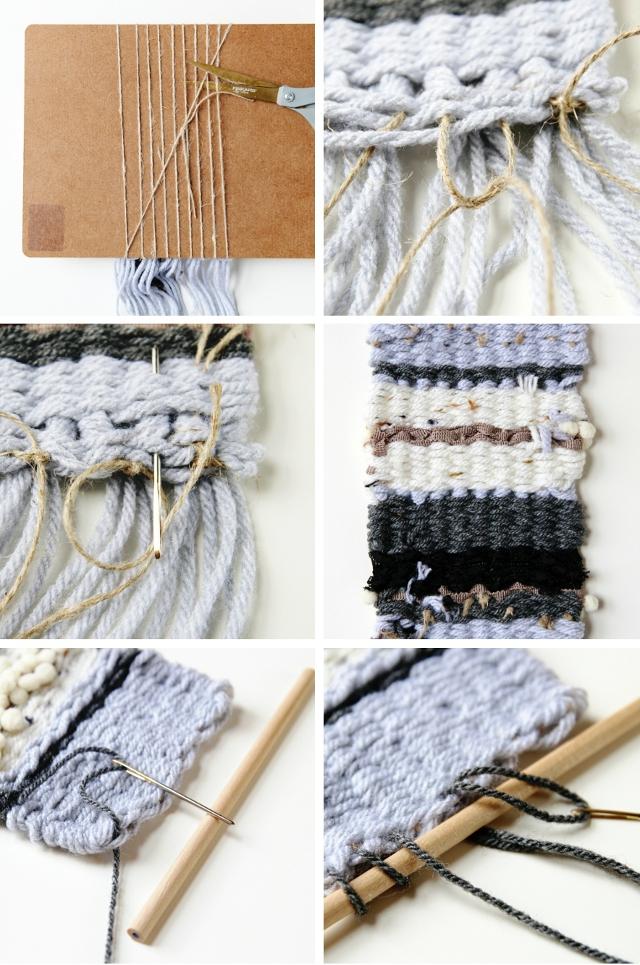 Make a Diy Mini Weaving using a clipboard as a loom