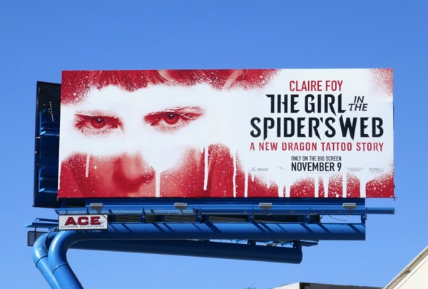 Girl in the Spiders Web billboard