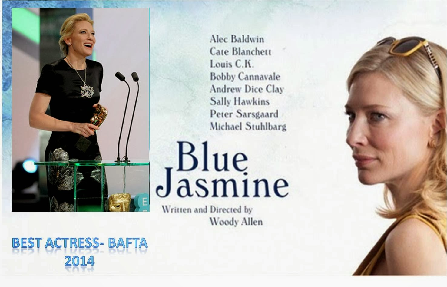 Best Actress BAFTA 2014- Cate Blanchett for Blue jasmine