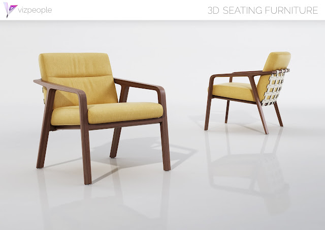 [3D Model Free] Seating Furnitures Collection set 4