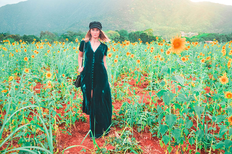 how to wear velvet in 2018 teal velvet maxi dress baker boy hat in cairns sunflower field