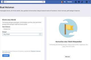 Membuat fans page di facebook via komputer
