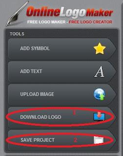 Untuk memasukkan Simbol, Text, silahkan anda klik tombol masing-masing, atau anda mempunyai gambar logo sendiri silahkan klik tombol Upload Image, anda bisa melihat gambar di bawah ini. Karena pada kesempatan ini admin tidak menjelaskan lebih detail dibagian ini, dan silahkan anda berkreasi sesuai dengan keinginan anda, tidak sulit ko dan bisa dibatalkan. Jika setelah anda mengeditnya atau anda sudah merasa logo yang anda buat sudah sesuai dengan keinginan anda, silahkan di download dengan klik Download Logo.