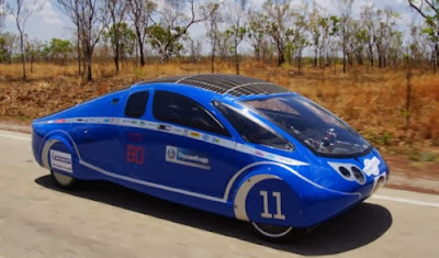 solar car form the world solar challenge