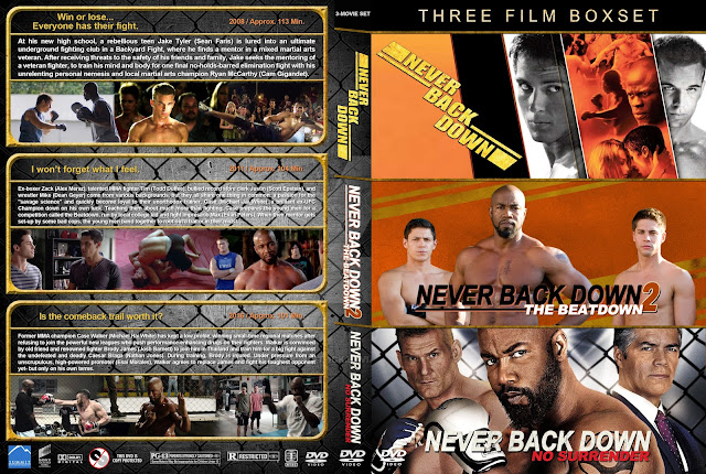 Never Back Down Collection DVD Cover