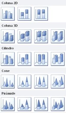 Como fazer colunas em 2D, 3D, Cilindro, Cone e Pirâmide