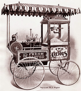 image of an old fashioned popocorn machine (source: wikipedia)