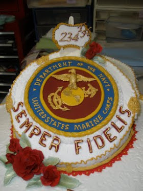 MARINE CORP BALL  all hand moulded and hand painted
