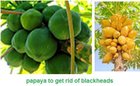 how to get rid of blackheads on nose: Use fruit papaya and