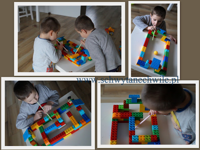 Labirynt i piłkarzyki z Lego Duplo