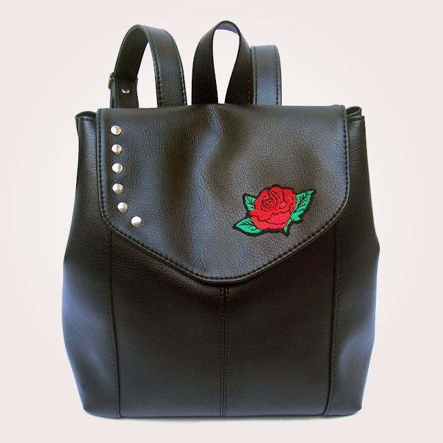 Cartera Mochila Aplique Bordado Rosa | Mod. 5080