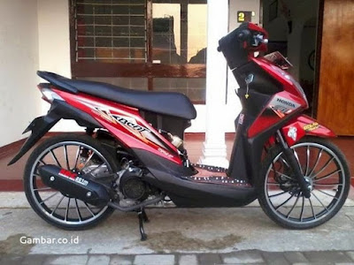 Modifikasi Beat FI 2015 Velg Ring 17 Merah