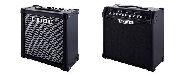 Amplificadores a Transistores Roland Cube-40GX y Line6 Spider IV 30