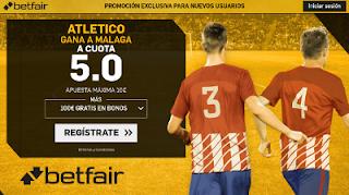 betfair supercuota victoria de Atletico al Malaga 16 Septiembre