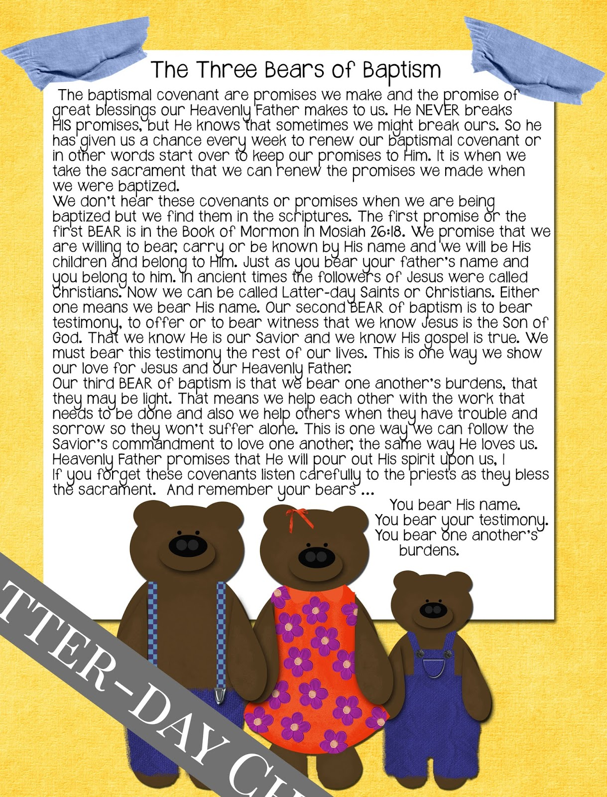 Latter Day Chatter Primary 3 Lesson 33 The Sacrament