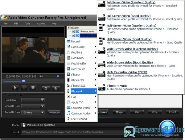 Offre promotionnelle : Apple Video Converter Factory Pro gratuit !