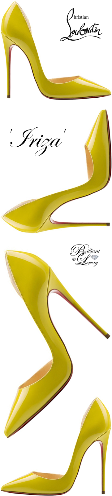 Brilliant Luxury ♦ Christian Louboutin Iriza Half D'Orsay Red Sole Pump #yellow