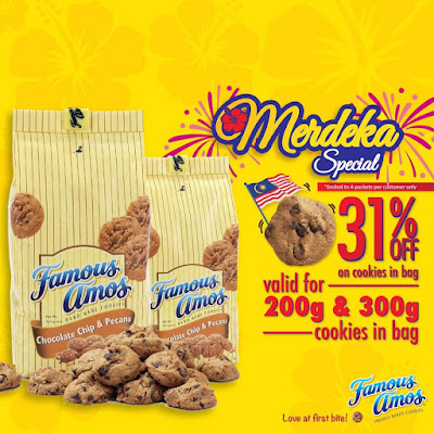 Famous Amos Cookies Malaysia Merdeka Special Discount Promo