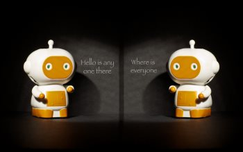 Wallpaper: Hello, is anyone there