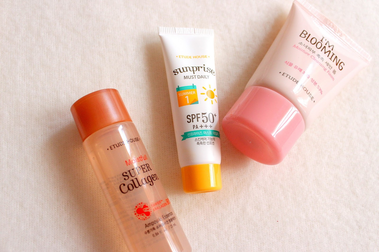 Etude House Moistfull Super Collagen Trial Kit Dubhe Joy These Three Products Are Really Amazing Ill Definitely Look For Sunprise And Im Blooming Maybe If The Budget Permits