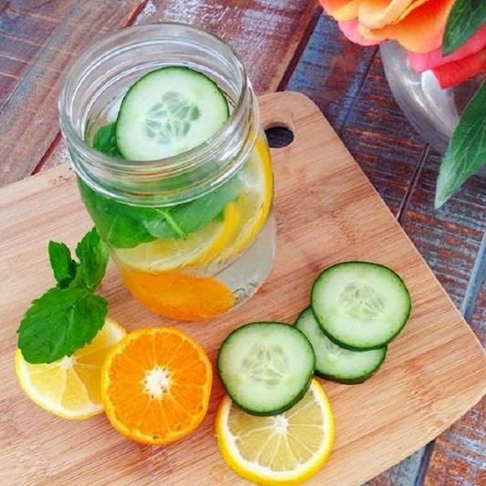 agua detox para adelgazar