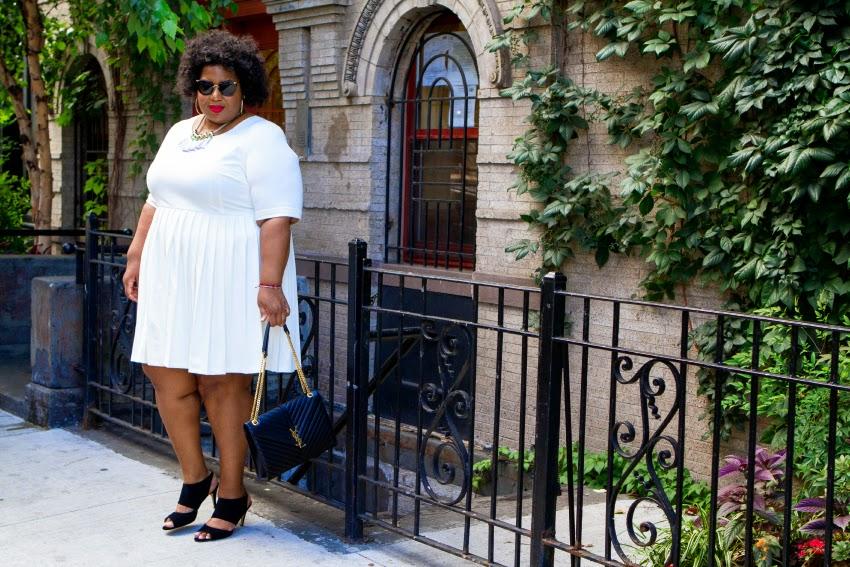 blogger white dress