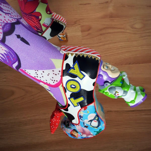 close up owearing Disney Toy Story Buzz Lightyear character heel