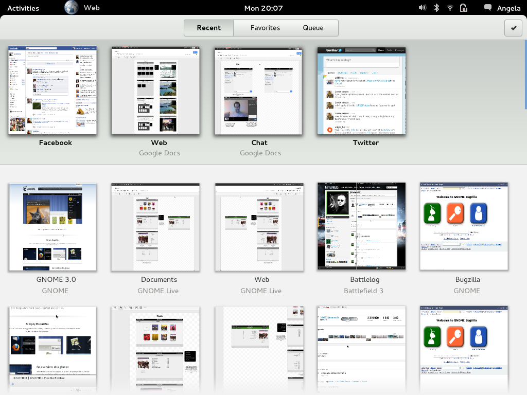 Gnome 3 Core Application Mockups