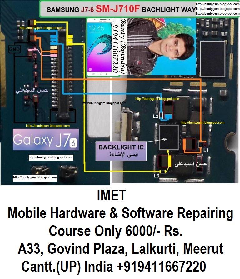 Samsung Galaxy J7 J710F Display Light Problem Solution Jumper Ways
