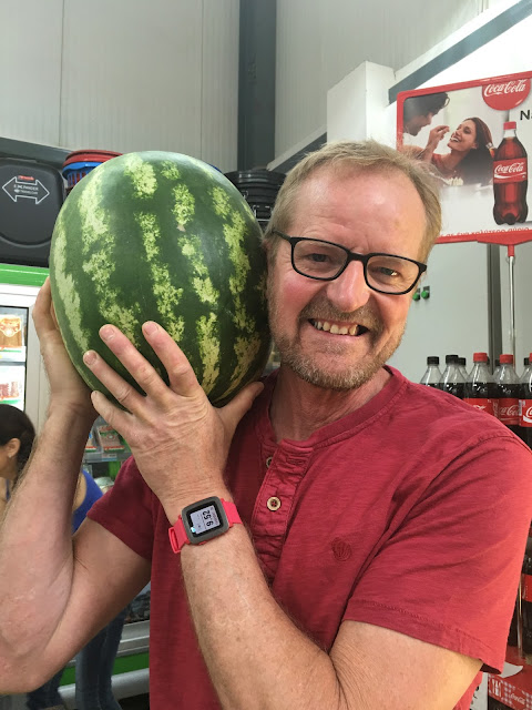 dadof7 with watermelon #WhatsYourX