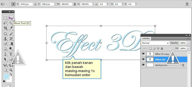 Cara membuat tulisan 3d di photoshop