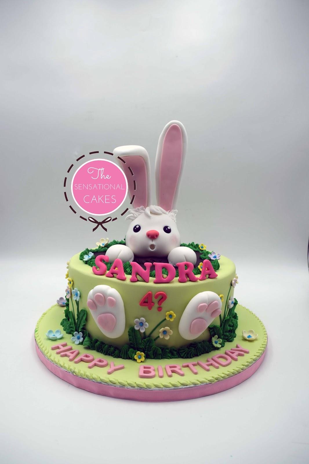The Sensational Cakes 3D Bunny Cake for Sandra Singapore cute