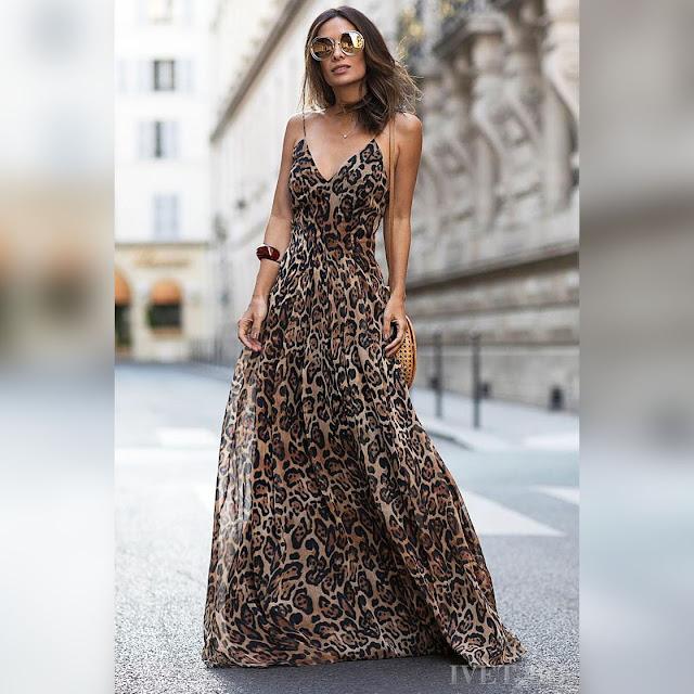 Αμάνικο εντυπωσιακό μάξι χρωματιστό φόρεμα BORIKA