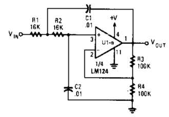 Active Low Pass Rc Filter Circuit Diagram Electronic
