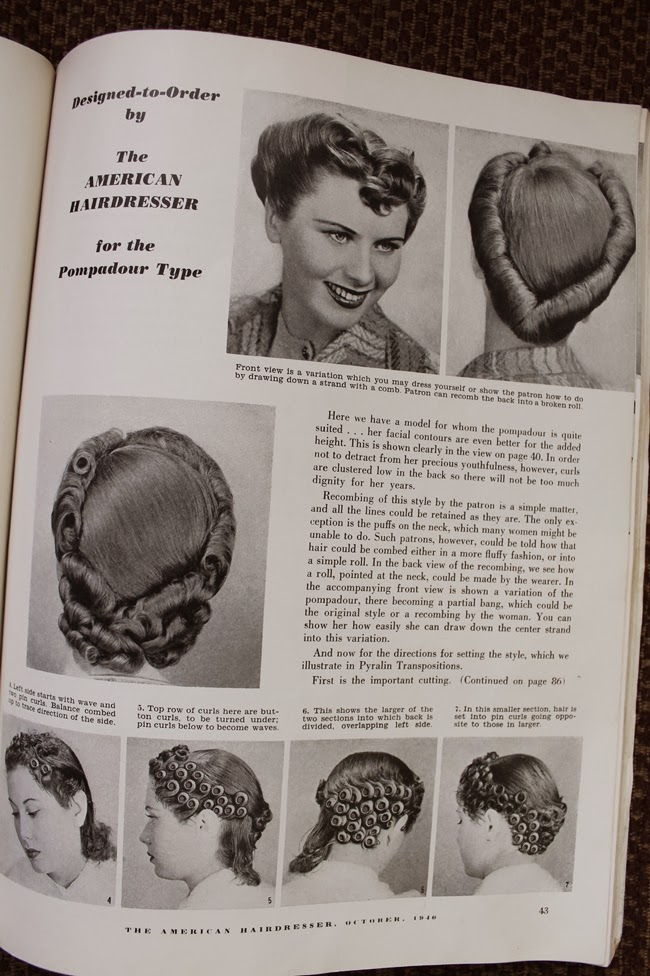 1940 ww2 vintage pin curl hair set and style directions